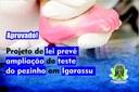Projeto de lei prevê ampliação do teste do pezinho em Igarassu