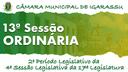 13ª Sessão Ordinária