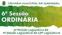 6ª Sessão Ordinária